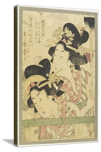 Parade of Courtesans, 1781-1806-Kitagawa Utamaro-Stretched Canvas Print