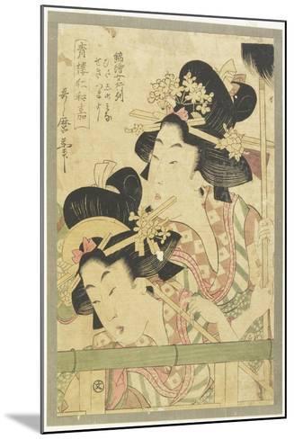 Parade of Courtesans, 1781-1806-Kitagawa Utamaro-Mounted Giclee Print