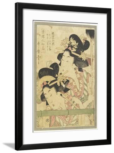 Parade of Courtesans, 1781-1806-Kitagawa Utamaro-Framed Art Print