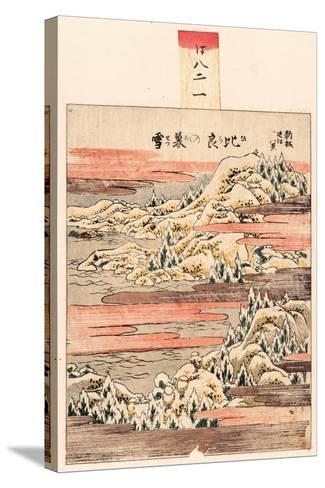Hira No Bosetsu-Katsushika Hokusai-Stretched Canvas Print