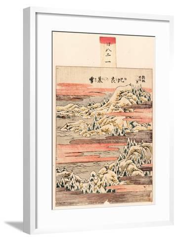 Hira No Bosetsu-Katsushika Hokusai-Framed Art Print