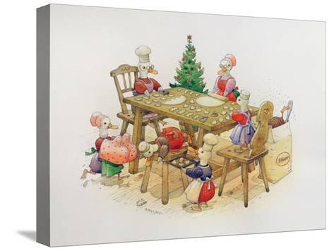 Duck's Christmas, 1999-Kestutis Kasparavicius-Stretched Canvas Print
