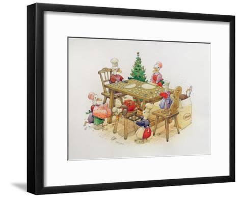 Duck's Christmas, 1999-Kestutis Kasparavicius-Framed Art Print