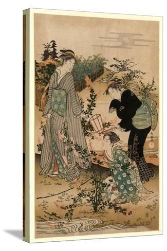 Hagi No Tamagawa-Kubo Shunman-Stretched Canvas Print