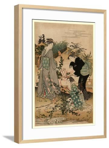 Hagi No Tamagawa-Kubo Shunman-Framed Art Print