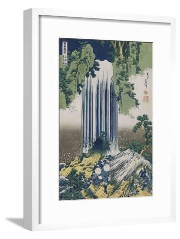 Yoro Waterfall, Mino Province', from the Series 'A Journey to the Waterfalls of All the Provinces'-Katsushika Hokusai-Framed Art Print