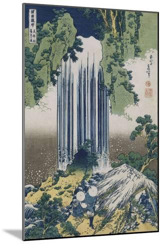 Yoro Waterfall, Mino Province', from the Series 'A Journey to the Waterfalls of All the Provinces'-Katsushika Hokusai-Mounted Giclee Print