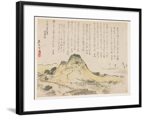 Isatsu Mountain, 1839- Kiin-Framed Art Print