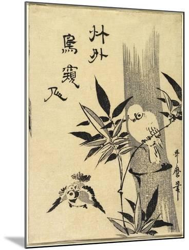 Sparrows on Bamboo Branch, C. 1781-1806-Kitagawa Utamaro-Mounted Giclee Print