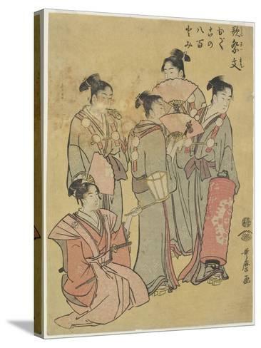 Group Singers, 1781-1806-Kitagawa Utamaro-Stretched Canvas Print