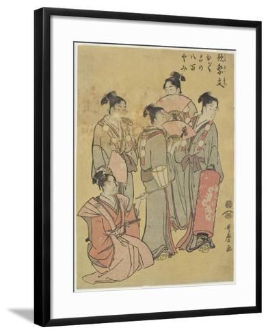 Group Singers, 1781-1806-Kitagawa Utamaro-Framed Art Print