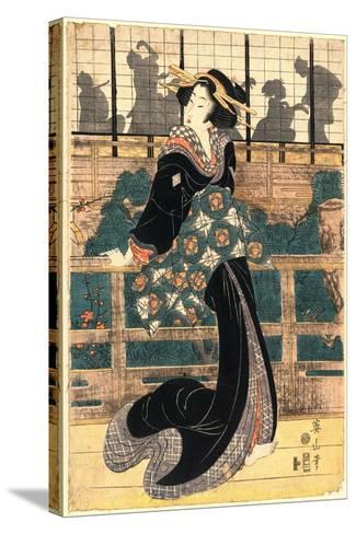 Roka No Geigi-Kikukawa Eizan-Stretched Canvas Print