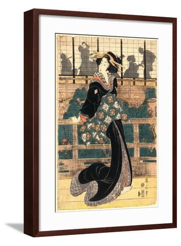 Roka No Geigi-Kikukawa Eizan-Framed Art Print