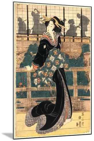 Roka No Geigi-Kikukawa Eizan-Mounted Giclee Print