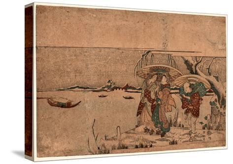 Secchu Sanbashi No Geinin-Kikukawa Eizan-Stretched Canvas Print
