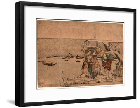Secchu Sanbashi No Geinin-Kikukawa Eizan-Framed Art Print