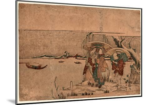 Secchu Sanbashi No Geinin-Kikukawa Eizan-Mounted Giclee Print