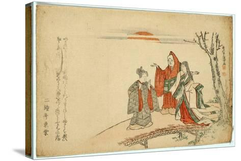 Yatsushi Kokei Sansho-Kubo Shunman-Stretched Canvas Print