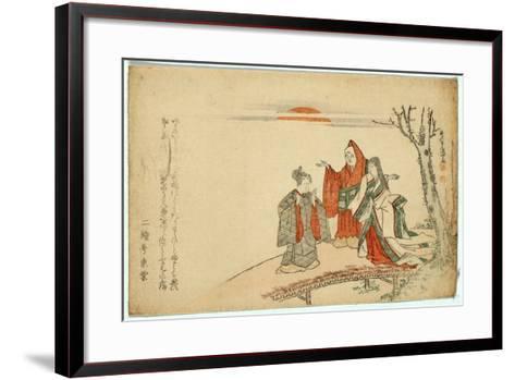 Yatsushi Kokei Sansho-Kubo Shunman-Framed Art Print