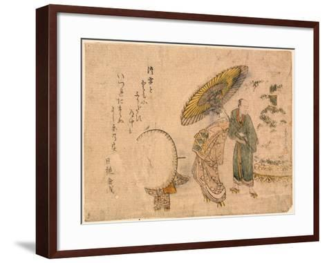 Yuki No Shogatsu Oiran Dochu-Kubo Shunman-Framed Art Print