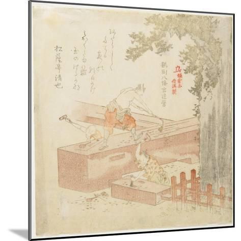 Building the Tsurugaoka Machimangu Shrine-Kubo Shunman-Mounted Giclee Print
