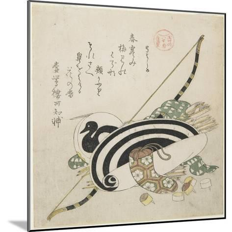 Pulling a Bow, C. 1815-Kubo Shunman-Mounted Giclee Print