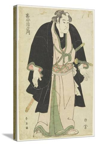 The Wrestler Takasago Uraemon-Katsukawa Shun'ei-Stretched Canvas Print