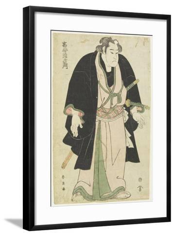 The Wrestler Takasago Uraemon-Katsukawa Shun'ei-Framed Art Print