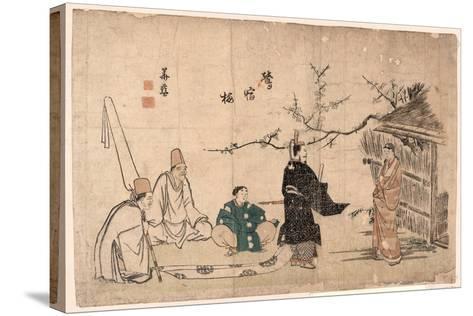Oshukubai-Kitao Shigemasa-Stretched Canvas Print