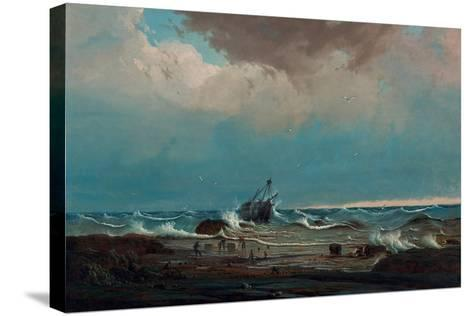 The Wreck of the 'George the Third', 1850-Knud Geelmuyden Bull-Stretched Canvas Print