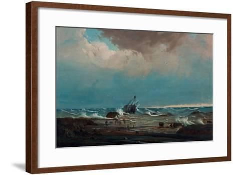 The Wreck of the 'George the Third', 1850-Knud Geelmuyden Bull-Framed Art Print
