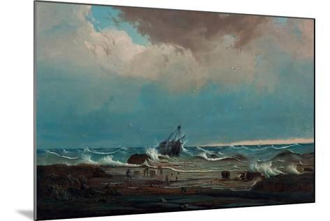 The Wreck of the 'George the Third', 1850-Knud Geelmuyden Bull-Mounted Giclee Print