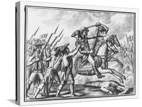 Death of General Joubert at the Battle of Novi, 1799-L.f. Labrousse-Stretched Canvas Print