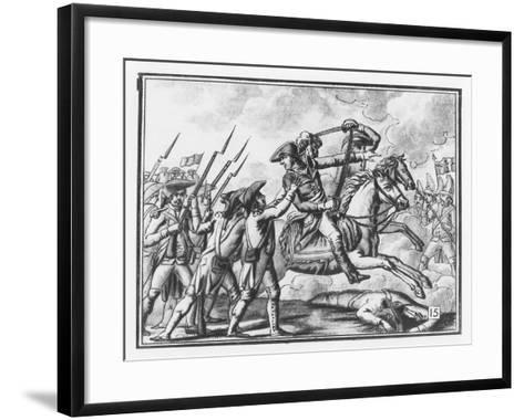 Death of General Joubert at the Battle of Novi, 1799-L.f. Labrousse-Framed Art Print
