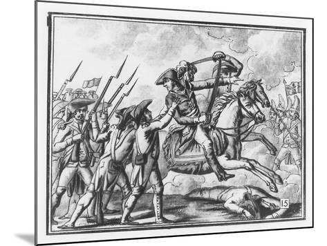 Death of General Joubert at the Battle of Novi, 1799-L.f. Labrousse-Mounted Giclee Print