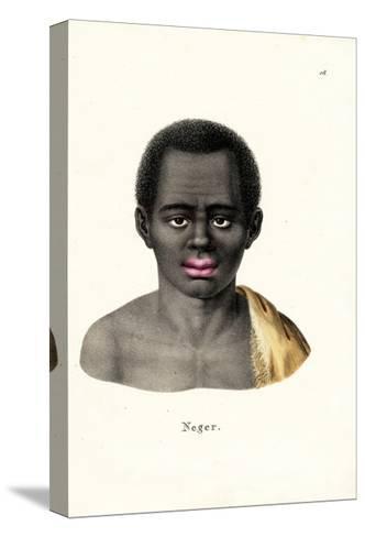 Black Man, 1824-Karl Joseph Brodtmann-Stretched Canvas Print