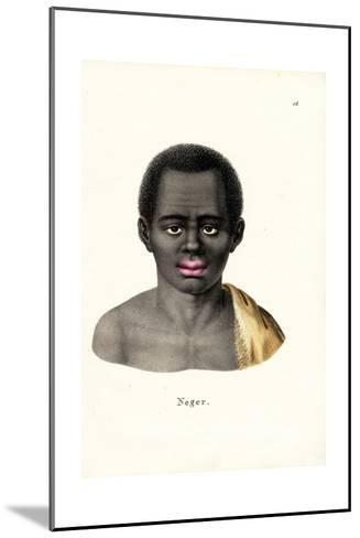 Black Man, 1824-Karl Joseph Brodtmann-Mounted Giclee Print