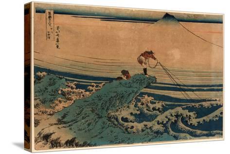 Koshu Kajikazawa-Katsushika Hokusai-Stretched Canvas Print