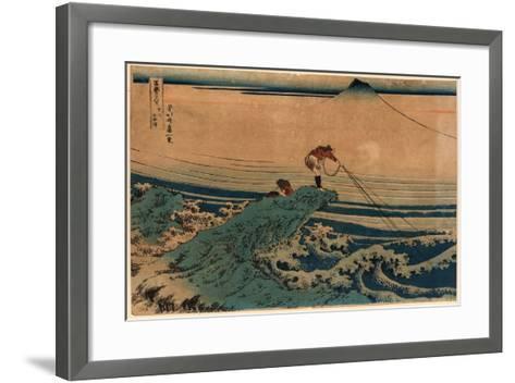 Koshu Kajikazawa-Katsushika Hokusai-Framed Art Print