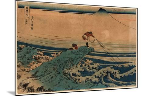 Koshu Kajikazawa-Katsushika Hokusai-Mounted Giclee Print