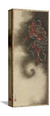 Thunder God, Edo Period, 1847-Katsushika Hokusai-Stretched Canvas Print