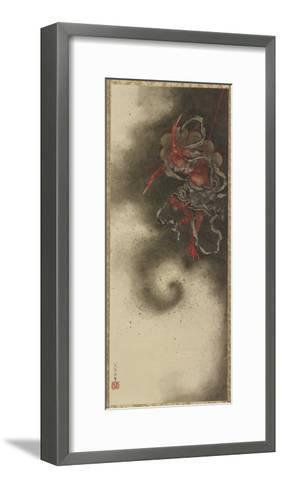 Thunder God, Edo Period, 1847-Katsushika Hokusai-Framed Art Print