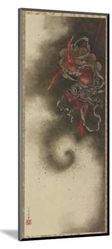 Thunder God, Edo Period, 1847-Katsushika Hokusai-Mounted Giclee Print