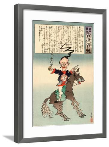 Buruburu Taisho-Kobayashi Kiyochika-Framed Art Print