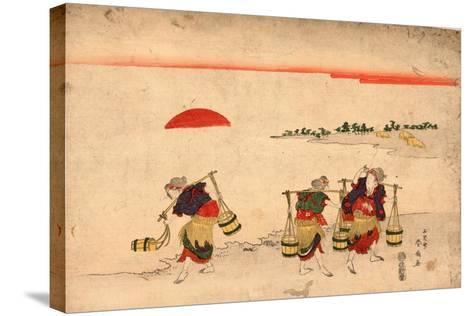 Shiokumi-Katsukawa Shunsen-Stretched Canvas Print
