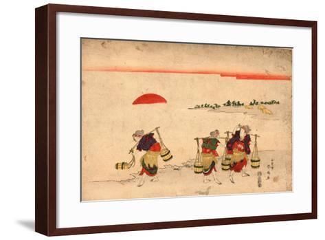Shiokumi-Katsukawa Shunsen-Framed Art Print