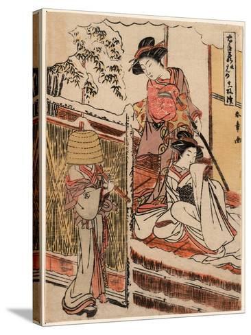 Kudanme-Katsukawa Shunsho-Stretched Canvas Print