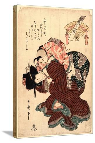 Amagoi Komachi-Kitagawa Utamaro-Stretched Canvas Print