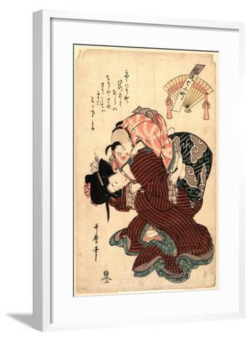 Amagoi Komachi-Kitagawa Utamaro-Framed Art Print