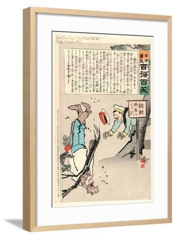 Sign Board Says-Kobayashi Kiyochika-Framed Art Print